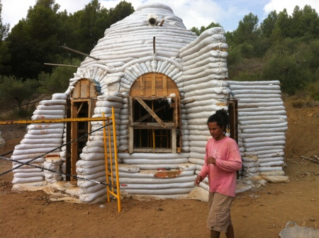 eco building near the village of Duesaigües, Catalunya